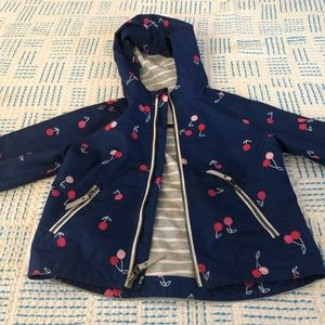 Hanna Andersson cherry print lined raincoat - 3 90